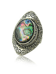 Factory Original Design Gypsy Vintage Silver Plated Boho Shell Rings for Woman