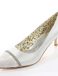 Women's Spring / Summer / Fall Heels / Pointed Toe Silk Wedding / Party & Evening / Dress Stiletto Heel Crystal Ivory