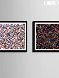 Fantasía Lienzo enmarcado / Conjunto enmarcado30 x 30cm(12inchx12inch)x2pcs / 40 x 40cm(16inchx16inch)x2pcs/ 50 x