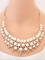 New Arrival Fashion Jewelry Luxury Sweet Rhinestone Pearl Necklace