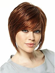 Short Length Hair European Weave Light Brown Color Hair Wig