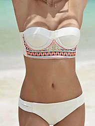 Damen Bikinis  -  Floral Push-Up Polyester Halfter