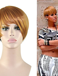 Sexy Blonde Wigs In Europe and America Star The Same Type of Wig RIhanna Synthetic Wigs.