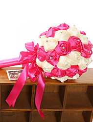 Romantic Rose Bouquet With Crystal Flower Bouquet Wedding Bridal Lace Bouquet Of Bride (More Colors)