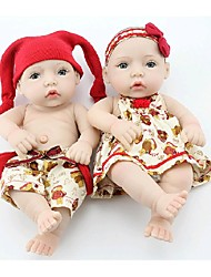 NPKDOLL Reborn Baby Doll Hard Silicone 11inch 28cm Waterproof Red Hat Boy and Girl