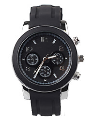 Black Silicon Tape Leisure Men's Watch Cool Watches Unique Watches