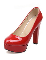 Calçados Femininos - Saltos - Saltos - Salto Agulha - Vermelho / Branco - Courino - Casual