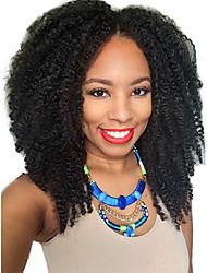 afro Kinky 2x4 u parte peruca não transformados parte média brasileira crespos encaracolados upart peruca para as mulheres negras u parte