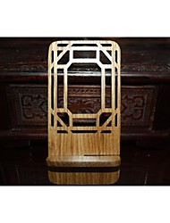 Window Grille(Ba gua shape)Red Wooden Phone Holder