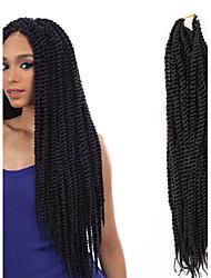 Hand-woven African Black Dirty Braid Hair Wigs Soft Black Bread 1PCS