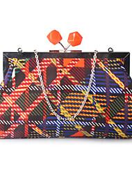 Women Satin Type Clutch / Evening Bag / Wallet / Cosmetic Bag