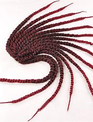 africani sporchi parrucche dei capelli treccia nera tessuti a mano grosso gradiente rosso comprare 1-12packs