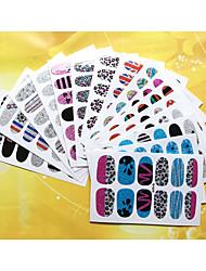 Панк - 3D наклейки на ногти / Стразы для ногтей - Пальцы рук - 95mm*60mm - 1pcs - ПВХ