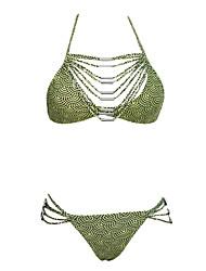 Bikinis Aux femmes Pois Soutien-gorge Rembourré Licou Polyester / Spandex