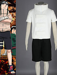 Inspired by Naruto Neji Hyuga Anime Cosplay Costumes Cosplay Suits Patchwork White Coat / Shorts