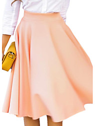 Women's Fashion Solid Elegant All match Skirt