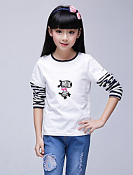 Girl's Blue / Red Tee,Stripes Cotton Summer