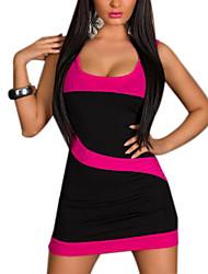 XiXiangYi® Women's Sexy U Collar Cotton and Spandex Mini Dress