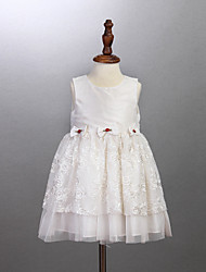 Girl's White Dress,Ruffle Cotton Summer