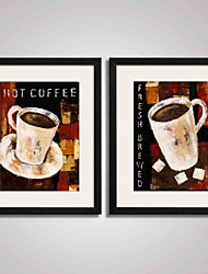 Framed  Abstract Coffee Cups Canvas Print Art for  Home Decoration 40x50cmx2pcs Ready To Hang