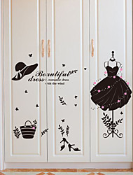 Wall Stickers Wall Decals Style Creative New Clothes Fashion Goddess PVC Wall Stickers