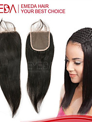 Lace Closure Straight Human Hair Closure Cheap Peruvian Virgin Hair Lace Closures Middle Part Free Part 3 Part Closure