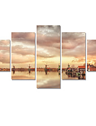 5 Panel Abstract Printed Landscape Painting Cuadros Canvas Art Seascape Picture For Living Room No Frame Gift