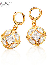 Drop Earrings Crystal Gold Plated Birthstones Ball Jewelry Wedding Party Daily Casual 1pc