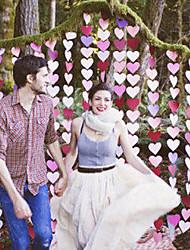 7cm Width 4M Length Paper Heart Shape Banner Confetti