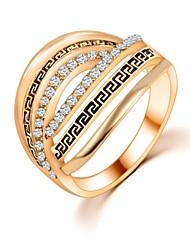 Femme Anneaux,Bijoux Mariage / Soirée / Quotidien / Casual Zircon 1pc,6 / 7 / 8 / 9