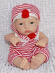 NPKDOLL Reborn Baby Doll Hard Silicone 11inch 28cm Waterproof Red-White Boy