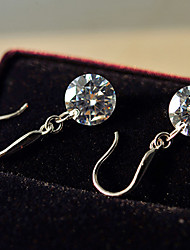 Drop Earrings Simulated Diamond Birthstones White Jewelry