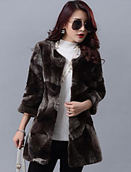 Women Lamb Fur Outerwear , Lined