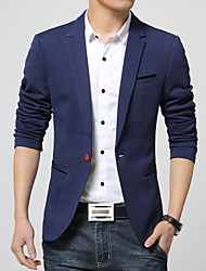 Men's Korean Fashion High Quality Solid One-Buckle Slim Fit Suit