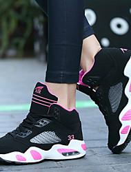 Sapatos Basquete Feminino Preto / Rosa Sintético / Tule