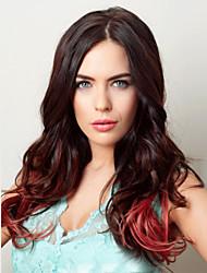 fabricants Vente en gros femme fausse vin de tête rouge gradient poire cheveux bouclés perruque de mode