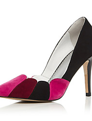 Women's Shoes Leather / Cashmere Stiletto Heel Heels / Pointed Toe Heels Party & Evening / Dress Multi-color