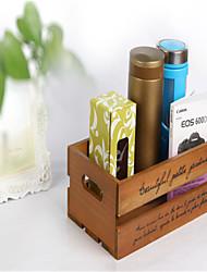 полые деревянные косметический ящик для хранения многофункциональные настольные носки ящик для хранения