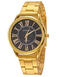 JUBAOLI Мужской Наручные часы Кварцевый Нержавеющая сталь Группа Золотистый
