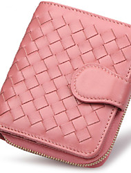 Women Sheepskin Bi-fold Clutch / Wallet / Card & ID Holder / Coin Purse / Business Card Holder / Travel Bag
