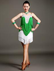 Robes ( Bleu / Fuchsia / Vert , Elasthanne , Danse latine ) Danse latine - pour Femme