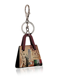 Italy Style The Leaning Tower of Pisa Pattern Acrylic Bag Shape Keychain Best Gift for Girlfriend Women Favorite