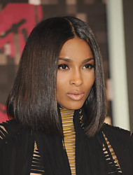 2016 Premier Newly Designed Afrodable Natural Looking Lace Front Wigs Ciara Middle Part Long Bob Wigs For Black Women