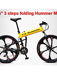 Mountain Bike / Folding Bike Cycling 21 Speed 26 Inch/700CC Unisex Disc Brake Suspension Fork Aluminium Frame Anti-slip Rockefeller Steel