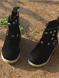 Winter Boys' Shoes Outdoor / Casual Suede Fashion Boots Black / Navy