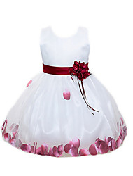 Girl's Multi-color / Pink / Purple / Red Dress,Bow Polyester Summer / Spring / Fall