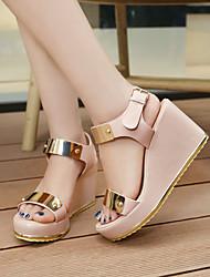 Women's Shoes Heel Wedges / Heels / Peep Toe / Platform Sandals / Heels Outdoor / Dress / Casual Black / Pink / Beige