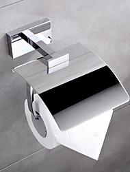 """HPB, Porte Papier Toilette Chrome Fixation Murale 17.4*12*10.5cm(6.9""""*4.7""""*4"""") Laiton Contemporain"""