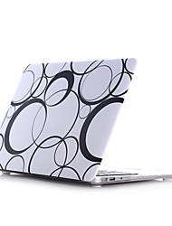 "Case for Macbook Pro 13.3""/15.4"" Geometric Pattern Plastic Material Circle Style PC Materials Water Stick Flat Shell"