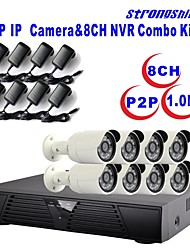 Strongshine®IP Camera with 720P/Infrared/Waterproof and 8CH  H.264 NVR  Combo Kits